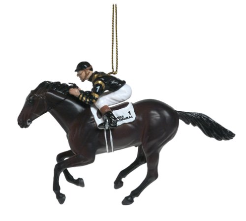 War Admiral - 1937 Triple Crown Winner - Hand Decorated Christmas Tree Ornament