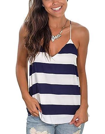 ecf339a39ac7 SAMPEEL Womens Spaghetti Strap Tank Tops Summer Sleeveless Shirts