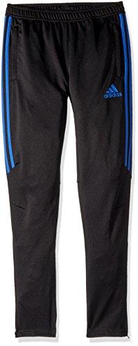 adidas Youth Soccer Tiro 17 Training Pants, Black/Hi-Res Blue, Large