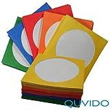 Quvido - Bustine in carta per CD / DVD, con finestra centrale trasparente, confezione da 100 pezzi