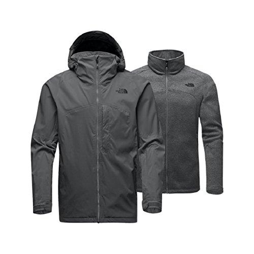 Alpine Outdoor Vent - NORTH FACE SKI JACKET | MEN'S GAMBIT TRICLIMATE (Large, Zinc Grey)