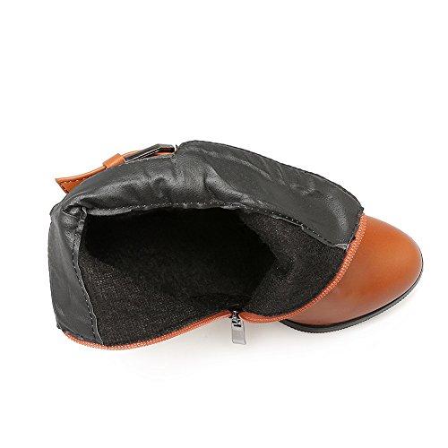 Zipper Girls BalaMasa Buckle Heels Chunky Yellow Patent Leather Boots I1dqrd