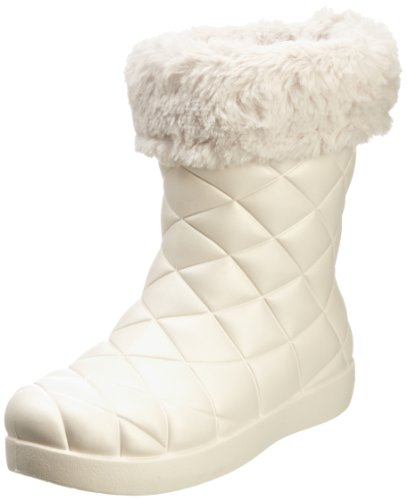 crocs Super Molded Cuffed Puff Boot Women 12514-02S-500 - Botines fashion para mujer Beige (Beige (Oyster/Oyster))