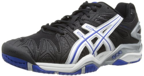 Asics GEL-RESOLUTION 5 Herren Tennisschuhe Nero (Schwarz (Black/White/Blue 9001))