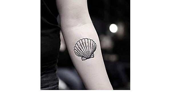 Tatuaje Temporal de Concha (2 Piezas) - www.ohmytat.com: Amazon.es ...
