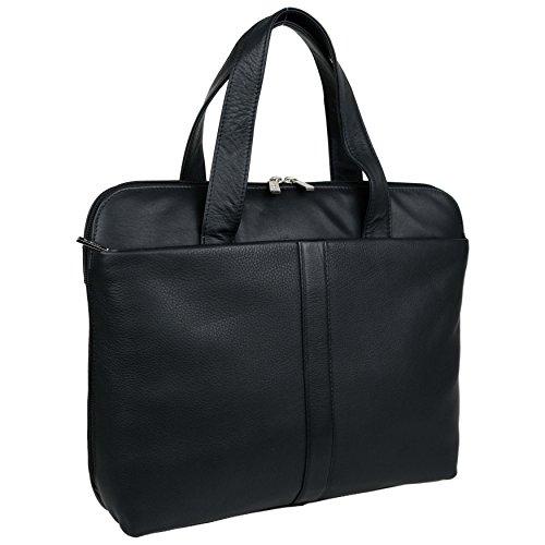 Borsa Leather Mano Donna Nero A Mala 06qzwx5c
