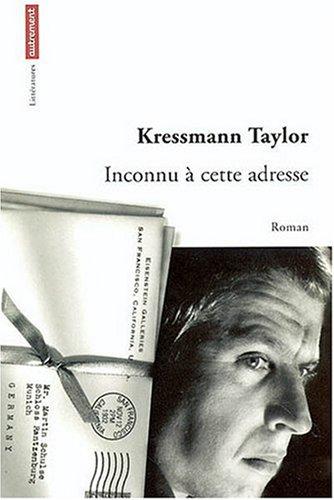 Read Online Inconnu A Cette Adresse pdf epub