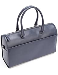 Royce Leather Rfid Blocking Carry on Travel Duffle Barrel Luggage in Saffiano Leather Duffel Bag, Blue, One Size