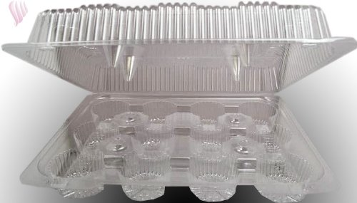 1 Dozen Clear Cupcake Box, Case of 100