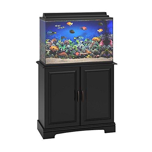 Ameriwood home harbor 29 37 gallon aquarium stand black for 29 gallon fish tank stand