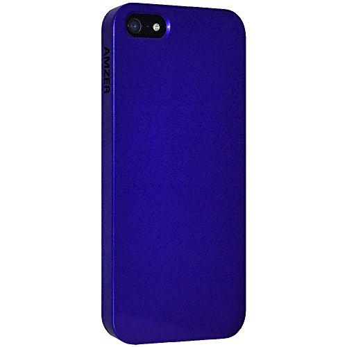 Amzer Super Slim Simple Schutzhülle für Apple iPhone5 (mit Bildschirmschutz, 1mm) Blau