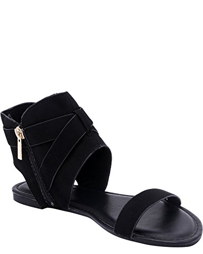 Anne Michelle Womens Ankle Wrap Sandal (Available In 3 Colors) Black FwphxwP2