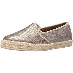 Clarks Women's Azella Theoni Slip-on Loafer, Gold/Metallic Leather, 8.5 M US