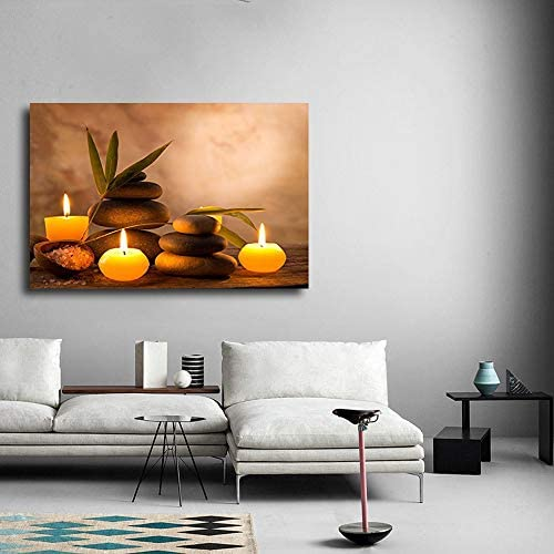 Aromatic Candles and Zen Stones Wall Decor