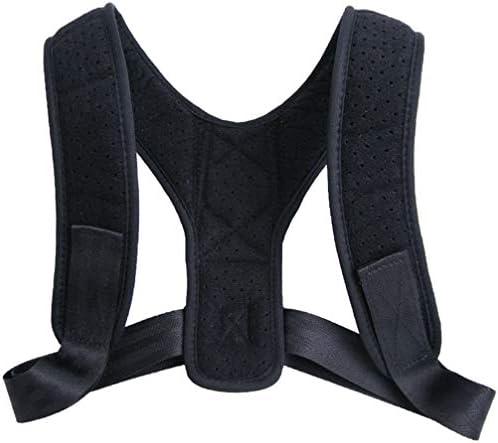Supvox Körperhaltung Korrektor Rückenstütze für Männer Frauen verstellbar verstellbare Schulter Haarglätter schwarz Größe s