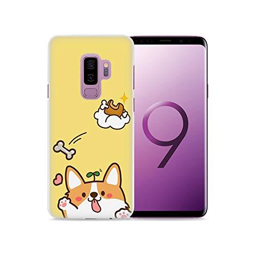 (Phone Case Cute Shiba Corgi Style White Hard Phone Case Cover for Samsung Galaxy S9 S9Plus S8 Plus S6 S7 Edge Note 8 5,05,for Samsung S4 Mini)