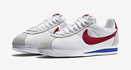 Nike Mens Chaussures De Course En Nylon Cortez Classique, Noir / Blanc / Rouge / Bleu (blanc / Varsity Royal Rouge Vrsty)