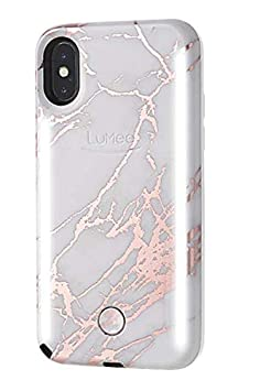 Front /& Back LED Lighting LuMee Duo Phone Case Selfie Phone Case Variable Dimmer White Marble Bumper Case iPhone Xs Max Only Shock Absorption