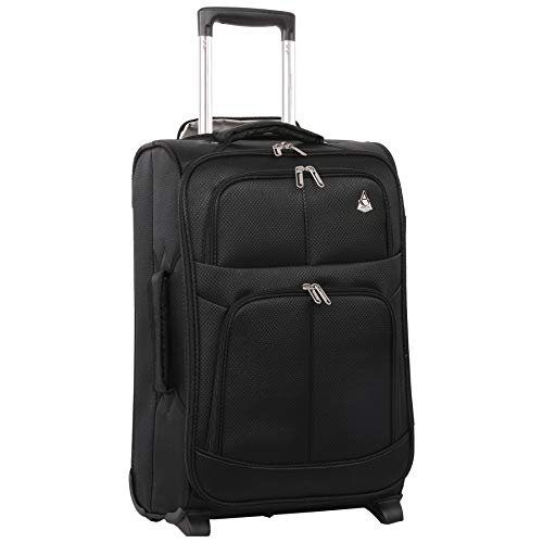 (Large Capacity Maximum Allowance 22x14x9 All Parts Carry On Luggage Bag | Rolling Travel Suitcase Lightweight Small Soft Trolley for Women | Approved by Delta, United, Southwest & Many More)