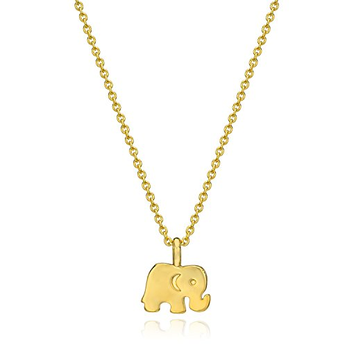 ESCALIE Lucky Elephant Necklace Gold, Good Luck Elephant Necklace