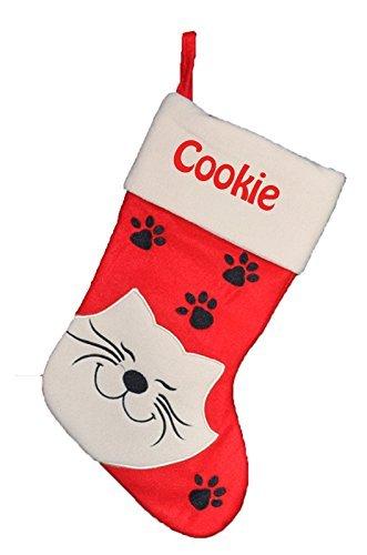 Chaussette de Noël à Personnaliser Botte de Noël pour votre Chat
