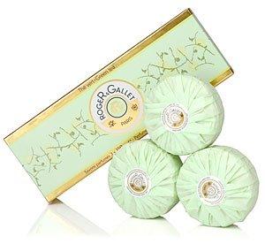 Roger Gallet Green Tea Boxed Soap Set – 3 x 3.5 oz.