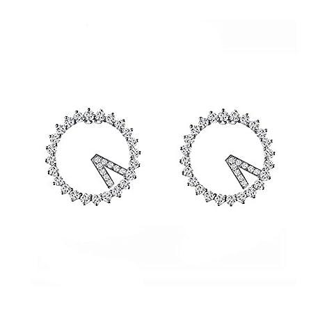 ER-20164C1 Fashionable Silver Fashion Fashion Plating Women's Earring (Martha Stewart Round Corner)
