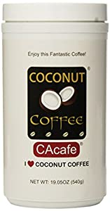 Cacafes Coconut Coffee in Jar #28528 (Cane Sugar Added),19.05oz (540g)