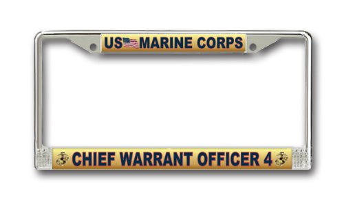 MilitaryBest Marine Corps License Plate Frame Chief Warrant Officer ()