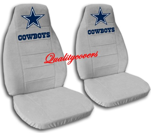 2 Silver Dallas seat covers for a 2007 to 2012 Chevrolet Silverado. Side airbag friendly. by Designcovers