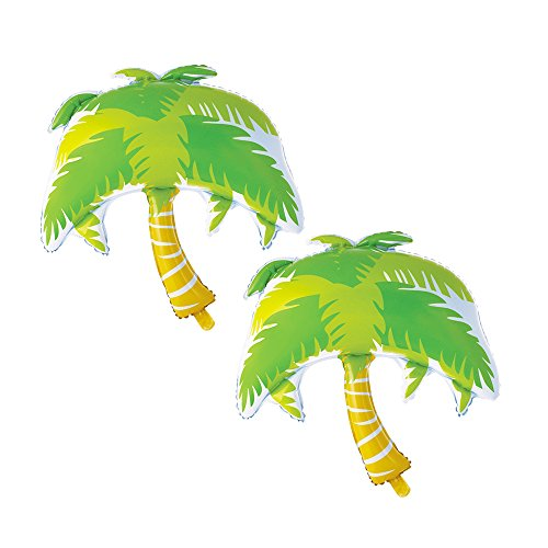 GOER Palm Trees Giant Foil Balloons,2 Pcs 43 Inch Balloons for Hawaiian Luau Party Summer Theme -