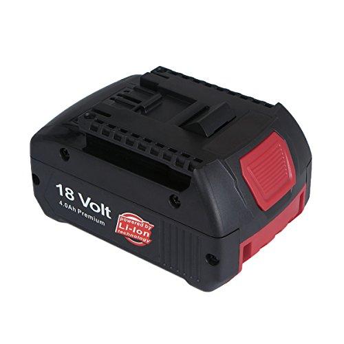 Bosch BAT609 Ersatzakku, FLAGPOWER Werkzeug Akku für Bosch 2607336235 2607336091 BAT609 BAT618 18V 4000mAh Li-ion Akku