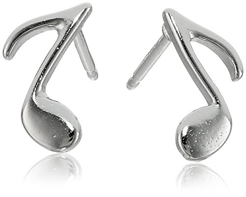 Sterling Silver Music Note Earrings