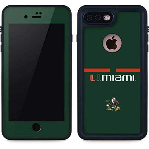 Skinit University of Miami Hurricanes iPhone 7 Plus Waterproof Case - Officially Licensed Phone Case - Fully Submersible - Snow, Dirt, Water Protected iPhone 7 Plus Cover
