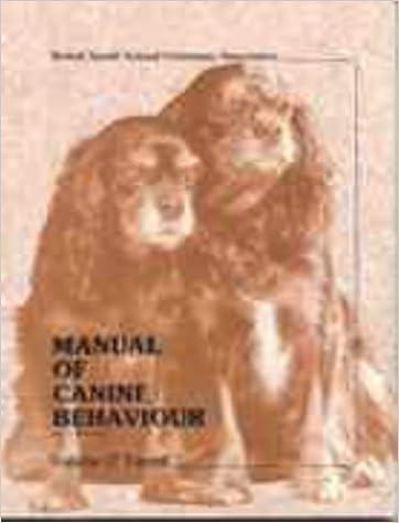 Manual of Canine Behaviour (BSAVA British Small Animal Veterinary Association)