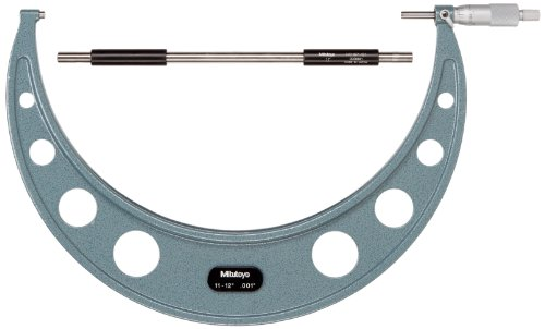 Mitutoyo 103-188 Outside Micrometer, Baked-enamel Finish,...