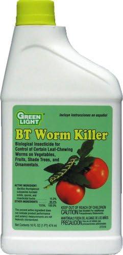 Amazon Com Green Light 27316 1 Pint Organic Bt Worm Killer