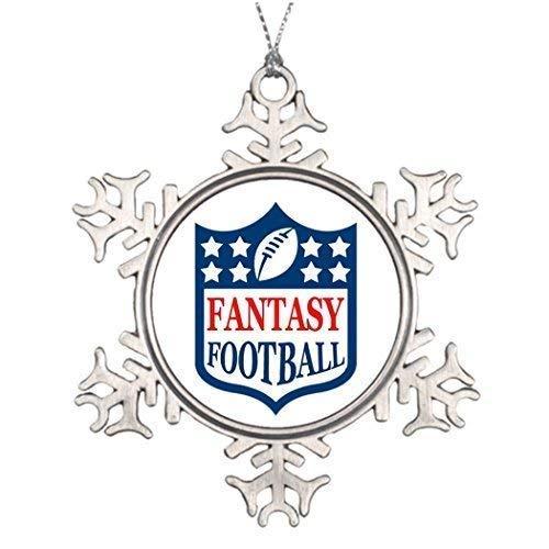 wonbye Christmas Ornaments 2018, Fantasy Football Home Decorations Ideas Metal Snowflake Tree Decoration, Friends