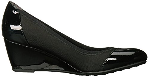 Lifestride Womens Juliana Stretch Wedge Pump Svart