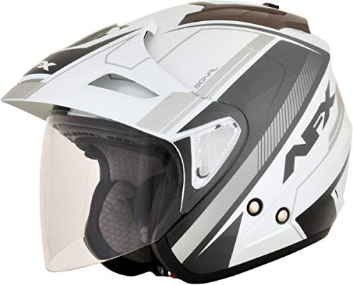 AFX 01042024 FX-50 Signal Helmet, Gender: Mens/Unisex, Distinct Name: Silver, Primary Color: Silver, Size: 2XL, Helmet Type: Open-face Helmets, Helmet Category: Street