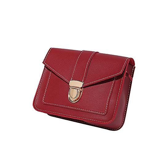 della spalla Spalla borsa Piccola composto caramella Sylar a Forma a Donna pelle quadrata rossa tracolla Borsa Colore Il estiva C54qOF