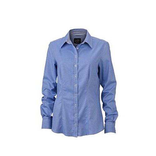 Mujer Del Para Atelier Azul Camisas Ricamo Claro IPttdwq
