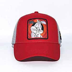 sdssup Anime Cartoon Cap Hat Net Hat Conejo Rojo Ajustable: Amazon ...