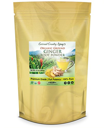 Organic Ginger Root Powder 3.5 oz Spice for Health, Baking, Beauty, Cooking, and Supplement - Island Root Beer