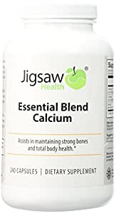 Jigsaw Essential Blend Calcium Supplement: Best Calcium Supplement Using Absorbable Calcium Malate. Boron, Vitamin D3 and Calcium Combined for a Bioavailable Calcium Supplement.
