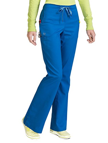 - Med Couture Peaches Uniforms Ladies Sherry Scrub Pant Royal, Small Petite