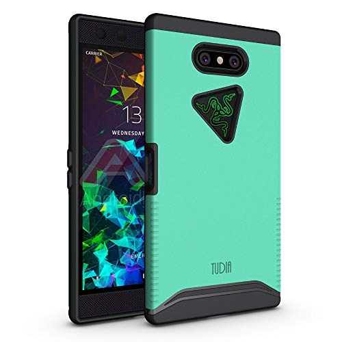 Razer Phone 2 Case, TUDIA [Merge Series] Dual Layer Heavy Duty Extreme Drop Protection/Rugged Phone Case for Razer Phone 2 [2018] (Mint)