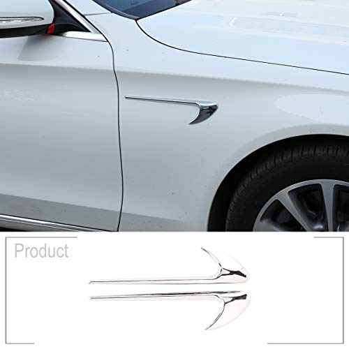 ShengTong 2pcs ABS Chrome Car Side Fender Trim for Mercedes Benz E Class W213 C-Class W205 Refit E63S AMG Accessories (Bright)