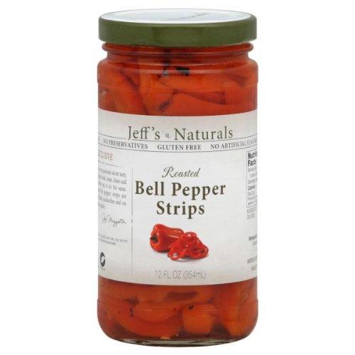Jeffs Naturals Pepper Roasted Bell Strips, 12 oz