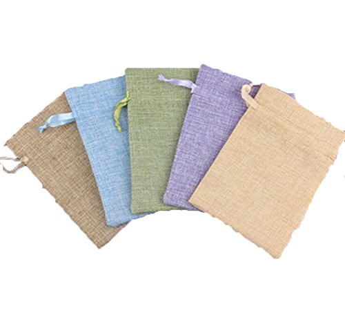 luzen 10 Pieces Cotton Muslin Drawstring Bags Sachet Bags from luzen